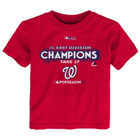 - Washington Nationals Majestic Toddler 2017 Division Champions Locker Room T-Shirt - Red