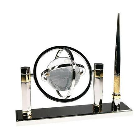 Crystal Globe Desktop (Bluestone Designs W352 Crystal Globe Pen Stand)