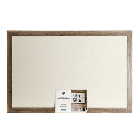 U Brands Linen Board, 23 x 35 Inches, Rustic MDF Frame (Message Board Rustic)