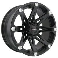 Ballistic 814 Jester 18x9 6x139.7 0mm Flat Black Wheel Rim