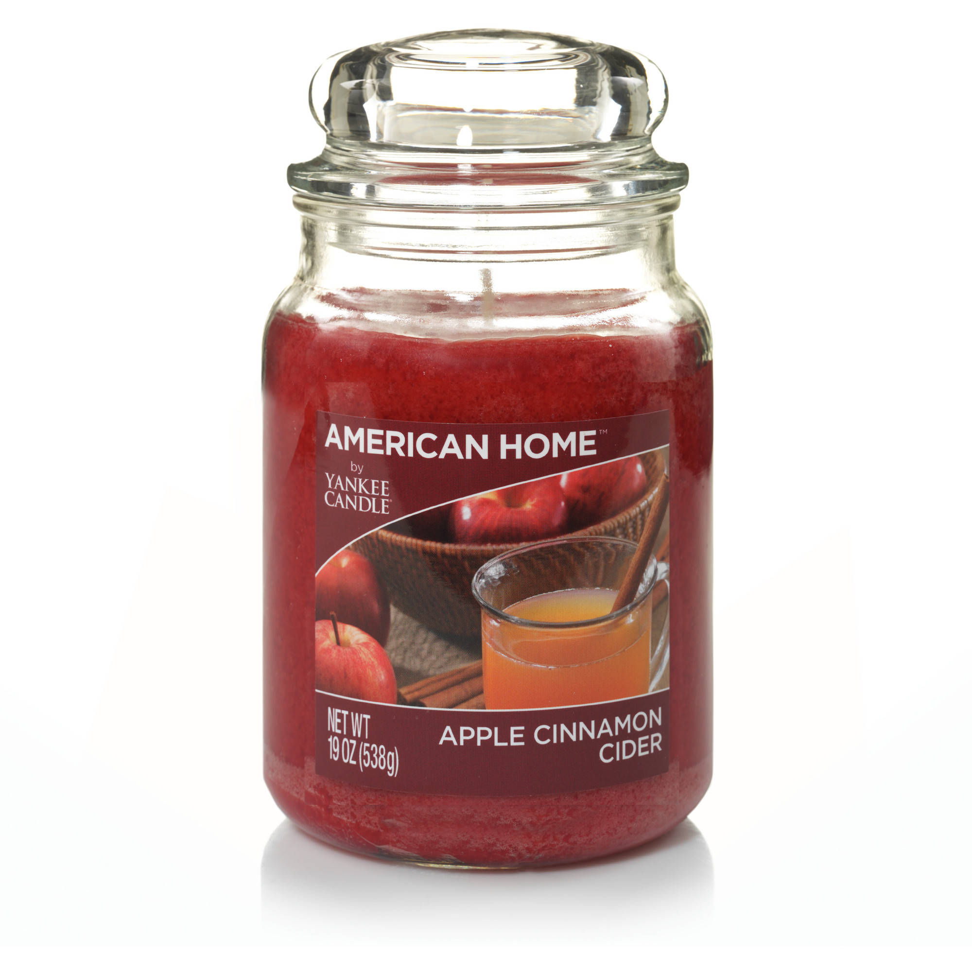 American Home by Yankee Candle Apple Cinnamon Cider, 19 oz Large Jar by YANKEE CANDLE CO