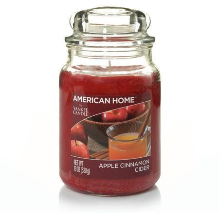 American Home By Yankee Candle Apple Cinnamon Cider  19 Oz Large Jar