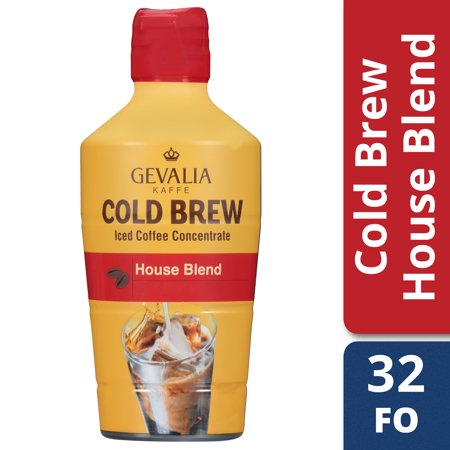 Gevalia Cold Brew House Blend Concentrate Iced Coffee, 32 oz