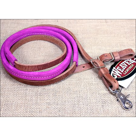 HOT PINK 8ft WEAVER LEATHER SUEDE COVERED HORSE TACK ROPING BARREL REINS