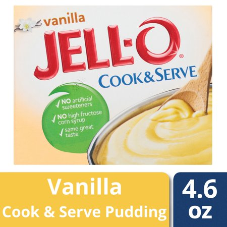(5 Pack) Jell-O Vanilla Cook & Serve Pudding & Pie Filling, 4.6 oz Box