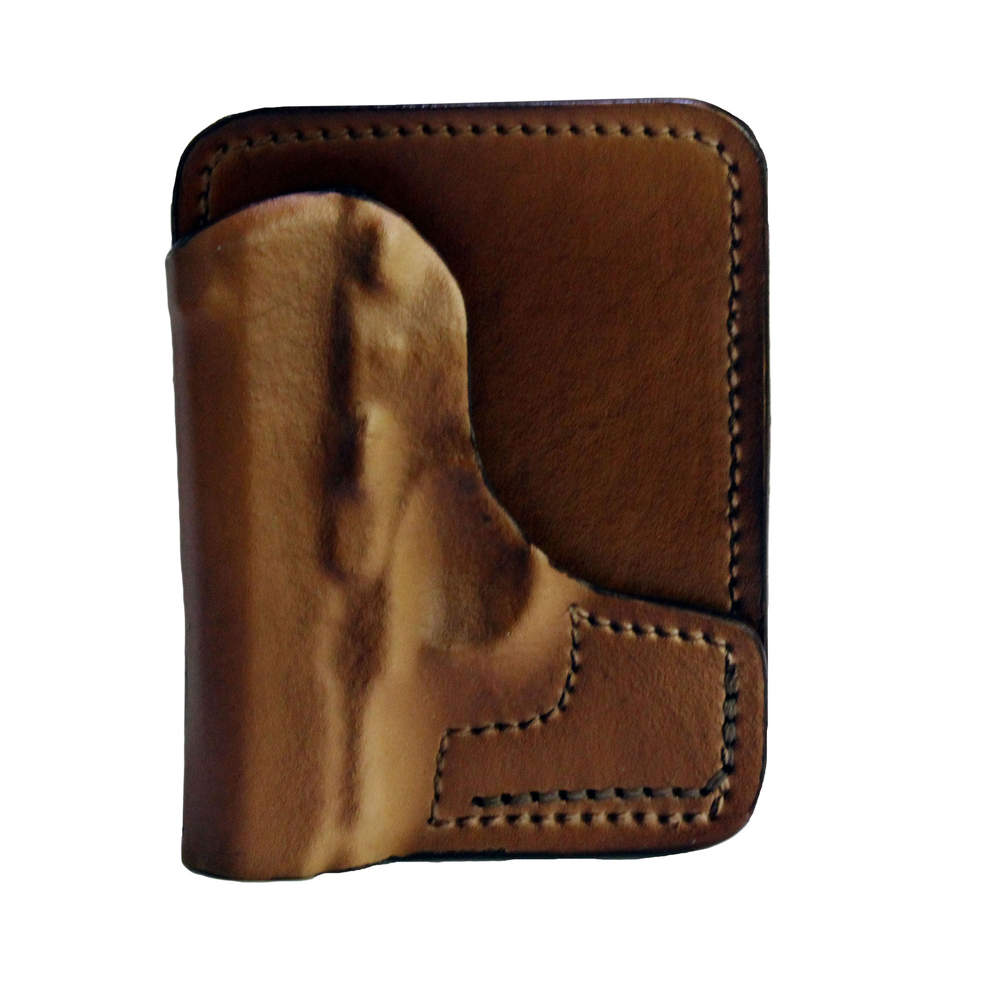 Frontline Back Pocket Leather Holster Colt Mustang, Brown, Right Hand