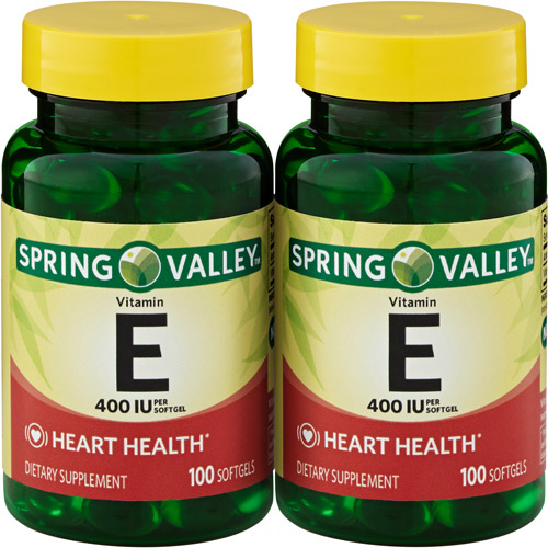 Spring Valley Heart/Immune Health 400 I.U. Vitamin E Supplement, 100 pc, 2 ct
