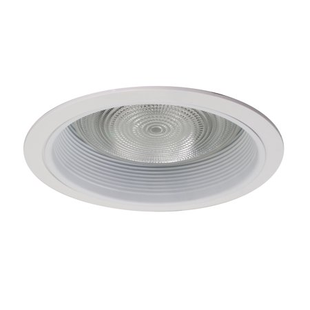 NICOR Lighting 6-Inch Recessed Baffle Trim for R30 Lights, White
