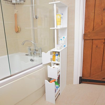 Bathroom Storage Tower Tall Slim E Saver Cabinet