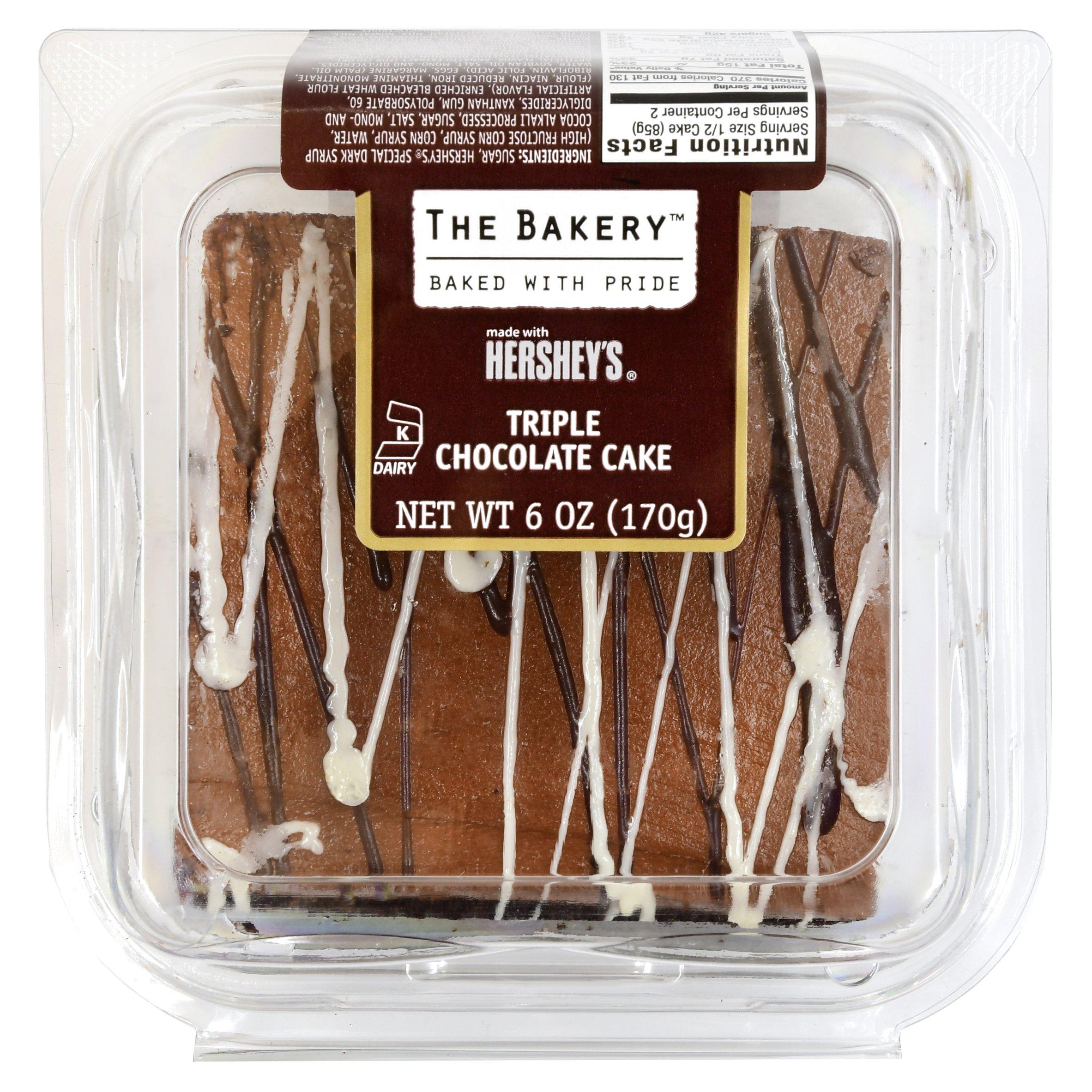 The Bakery Triple Chocolate Cake, 6 oz