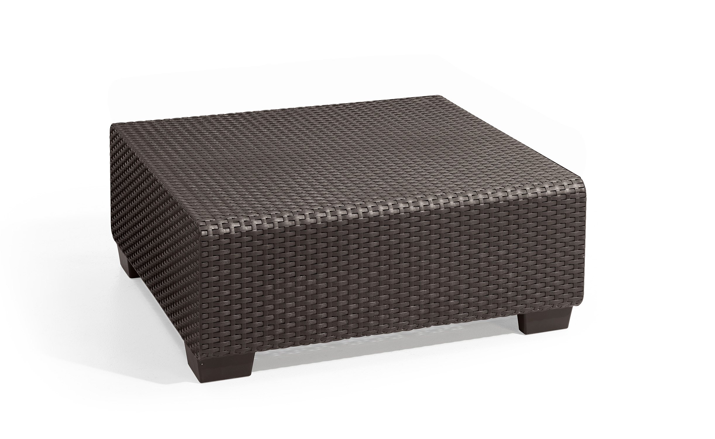 Resin Garden Furniture Keter Sapporo Coffee Table Brown, Rattan Resin Patio Furniture - Walmart.com
