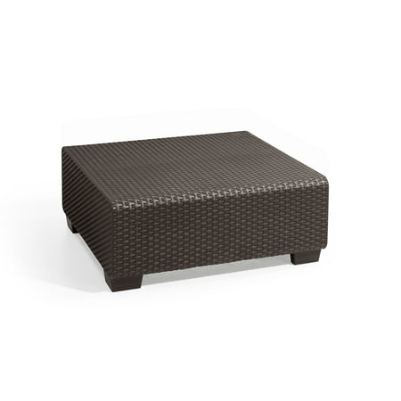 Keter Sapporo Coffee Table Brown, Rattan Resin Patio Furniture