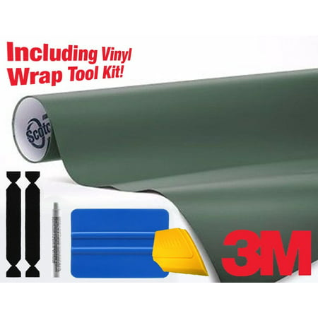 3M 1080 Matte Military Green AirRelease Vinyl Wrap Roll Including Toolkit  Sample Swatch no tools