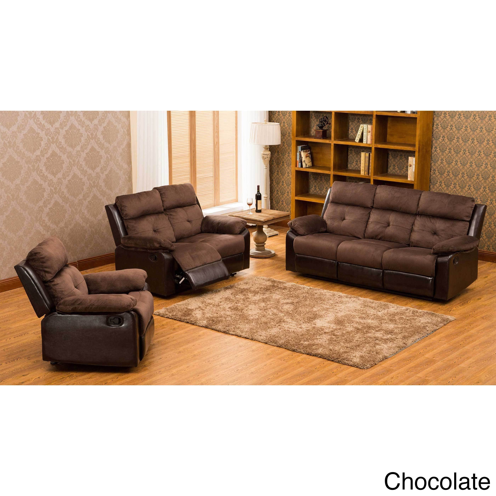 United Furniture Express Stanford 3-pc Motion Recliner Living Room Set