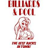 Custom Wall Decal Billiards And Pool - Boys Bed Room - Picture Art - Peel & Stick Vinyl Wall Decal Sticker 20x10