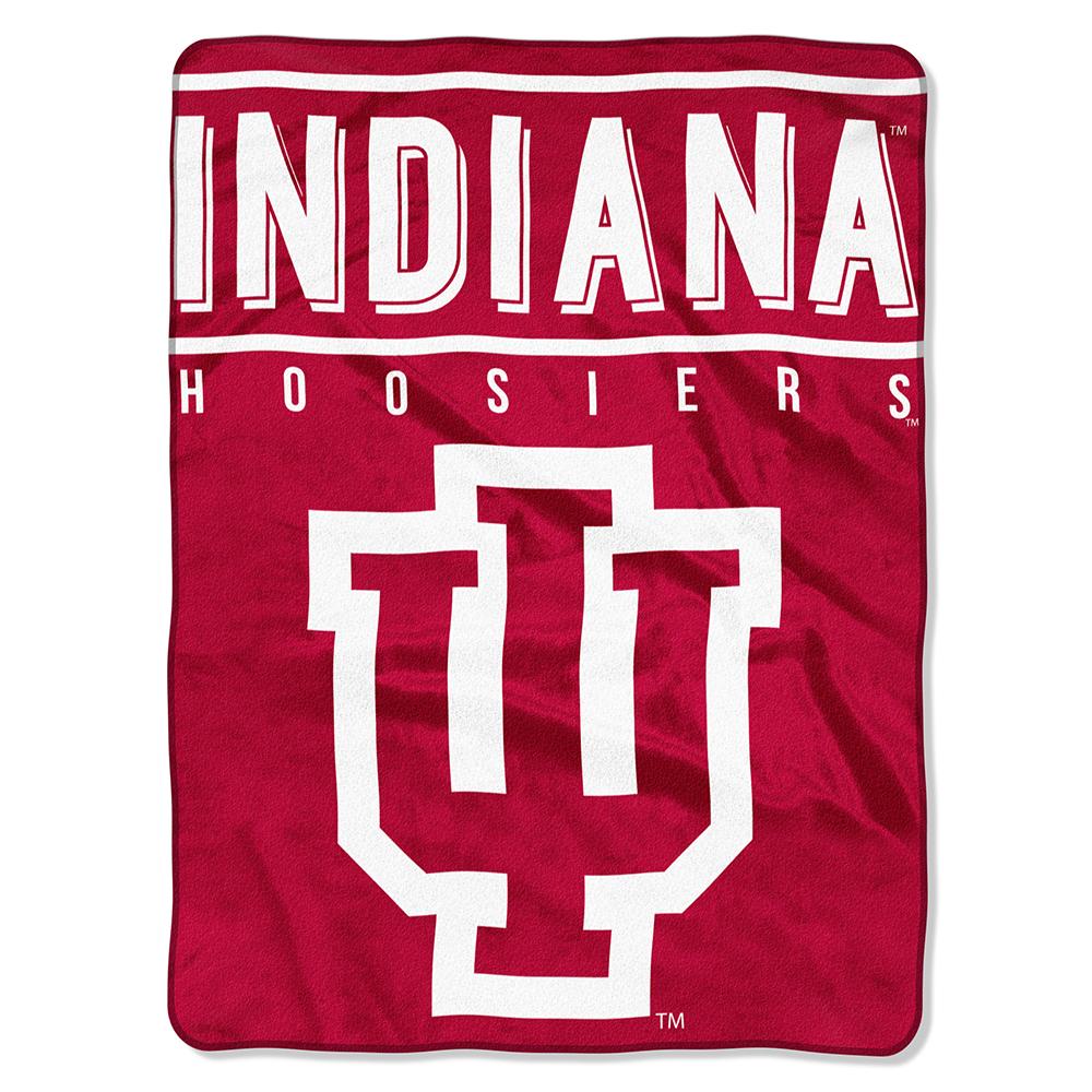 Indiana Hoosiers NCAA Royal Plush Raschel Blanket (Basic Series) (60x80)