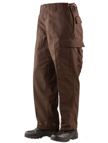 1343 Mens BDU Pants, Poly/Cotton Rip-Stop, Brown