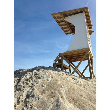 LAMINATED POSTER Lifeguard Beach Stand Sand Dunes Poster Print 24 x 36 Beach Sand Finish Stand