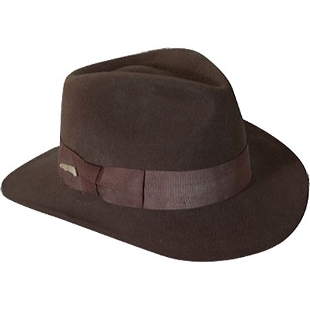 d3a727826cd Dorfman Pacific - Men s Indiana Jones Wool Felt Crushable Outback ...