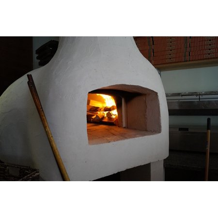 LAMINATED POSTER Pizza Oven Pizzeria Pizza Wood Burning Stove Oven Poster Print 24 x (Wood Stove Oven)