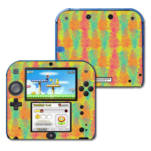 Mightyskins Protective Vinyl Skin Decal Cover for Nintendo 2DS wrap sticker skins Spring Pines