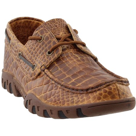 Ferrini Mens Print Crocodile Belly Loafer  Casual Boots Boots - (Emt Boots)