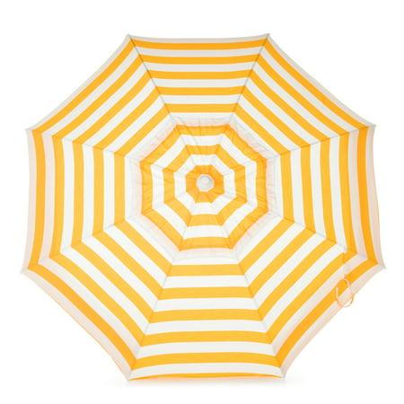 Destinationgear Italian 6 Umbrella Acrylic Stripes Yellow And White Patio Pole