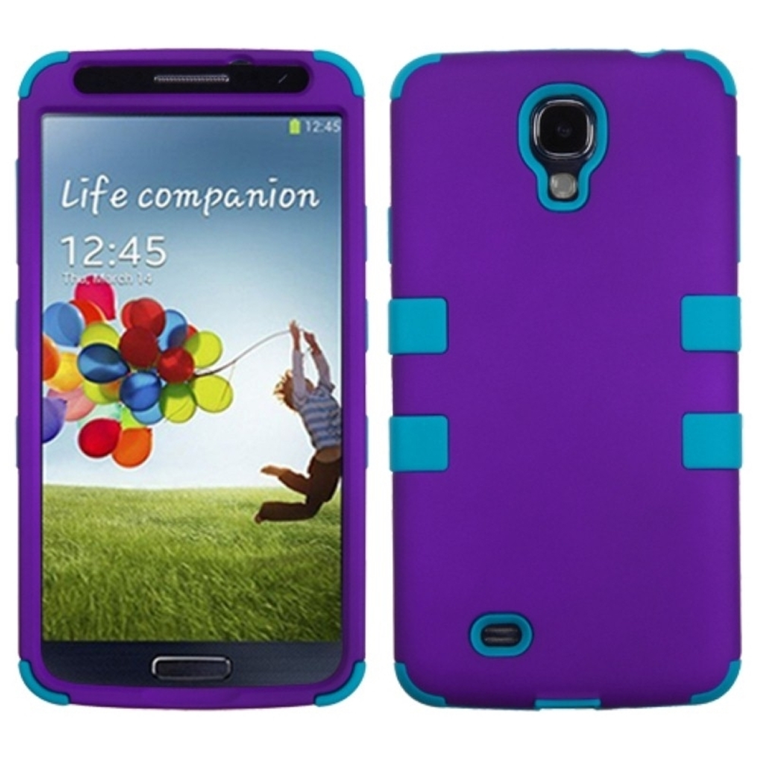 Insten Rubberized Grape Tropical Teal Green TUFF Hybrid Hard Shockproof Case For SAMSUNG Galaxy S4 I9500