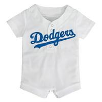 Los Angeles Dodgers Newborn & Infant Replica Romper - White
