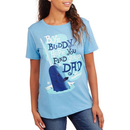 3f920705 Christmas - Juniors' Elf Bye Buddy Boyfriend Tee - Walmart.com