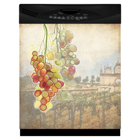 Tuscan Grapes Large Dishwasher Cover Magnetic material - Please make sure dishwasher is magneticNonmagnetic options and custom sizes available on Appliance Art websiteMADE IN USACovers are 1 piece, easy to trim to size