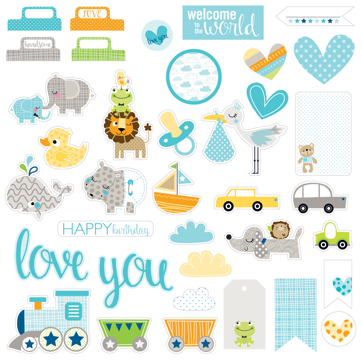 Cute Baby Boy Paper Pieces Cardstock Die