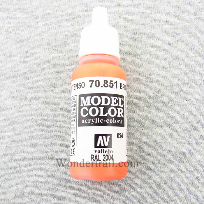 Vallejo Bright Orange Paint, 17ml Multi-Colored