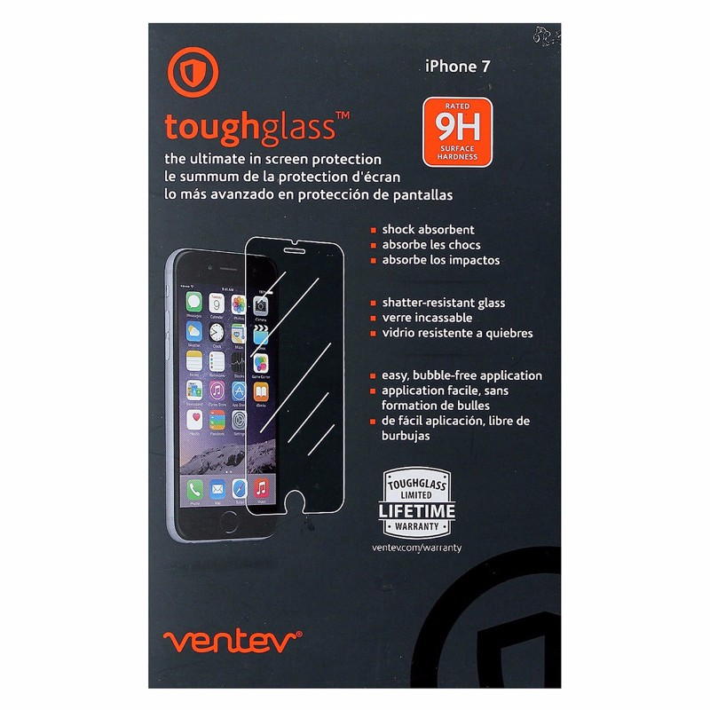 Ventev ToughGlass Series 9H Tempered Glass Screen Protector for iPhone 7 - Clear