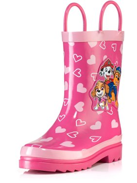 Nickelodeon Paw Patrol Girls Pink Rubber Waterproof Rain Boots - Size 13 Little Kid