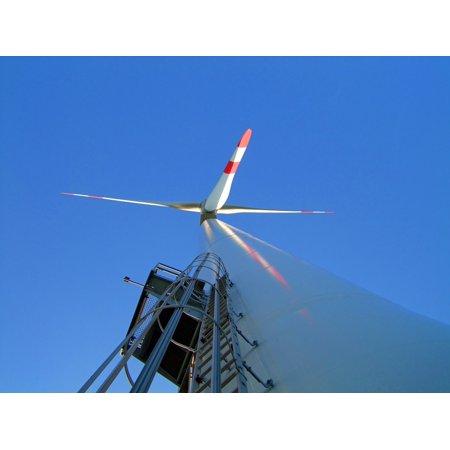 Framed Art for Your Wall Rotor Blades Large Wind Turbine Head High 10x13 (Wind Turbine Rotor)