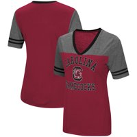 South Carolina Gamecocks Colosseum Women's The Whole Package Jersey V-Neck T-Shirt - Garnet