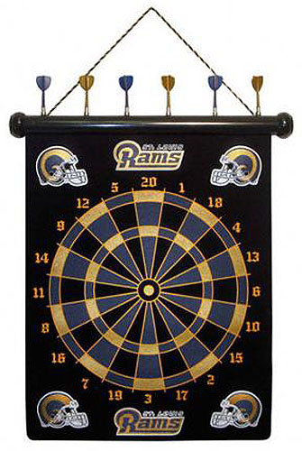 NFL St Louis Rams Magnetic Dart Board Set by Rico