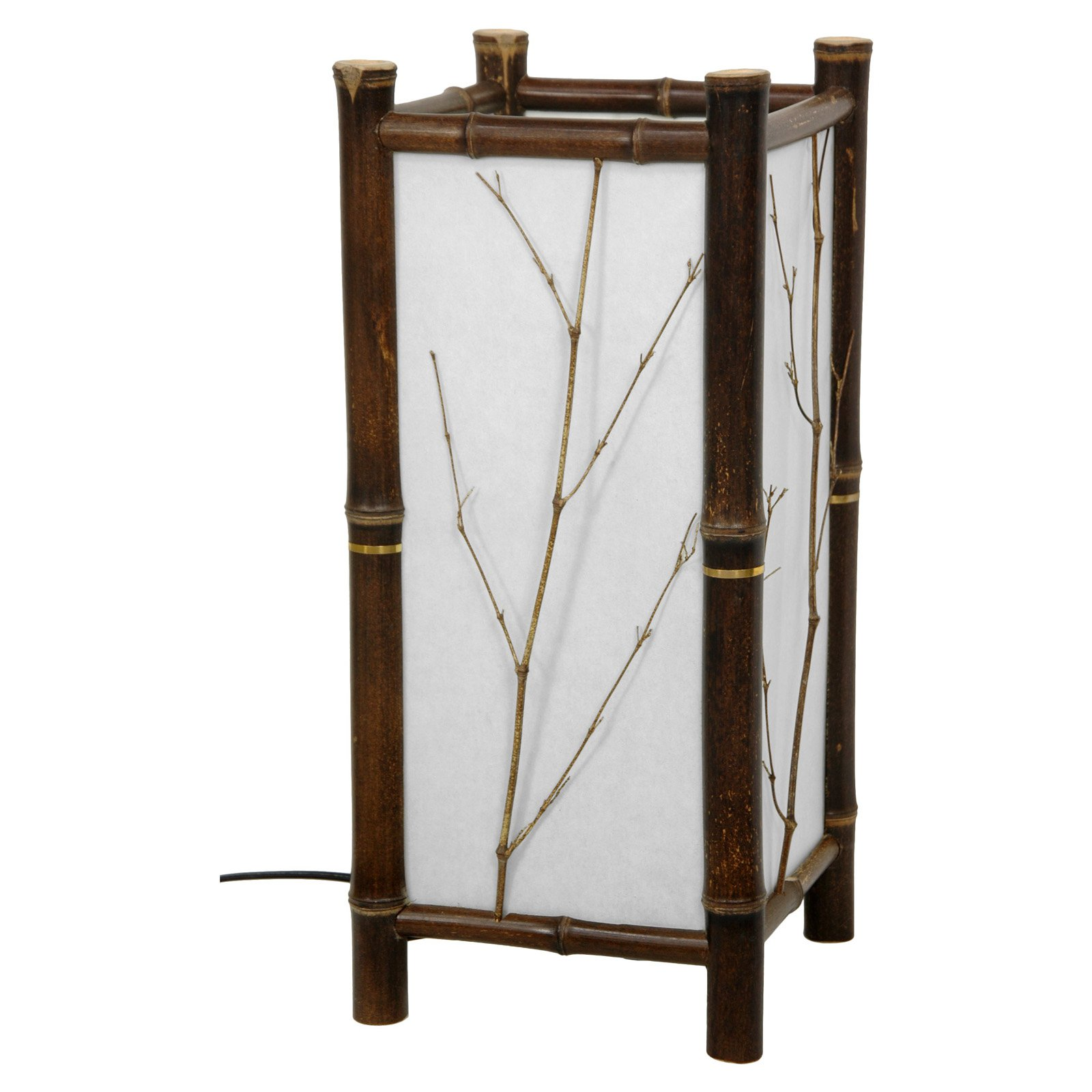 Oriental Furniture Hayashi Japanese Table Lamp