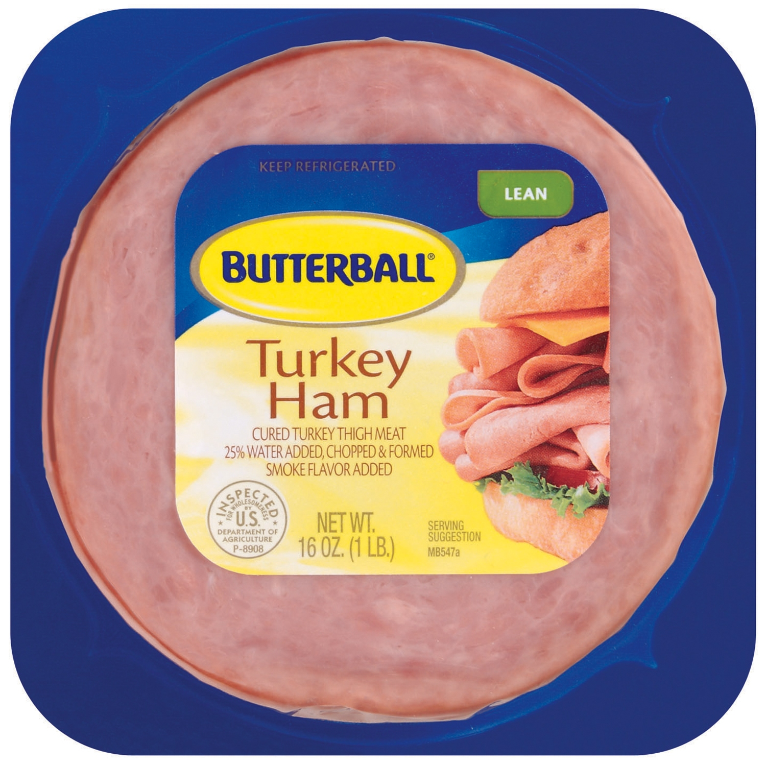 Butterball Ham Lean Turkey 16 Oz Pack