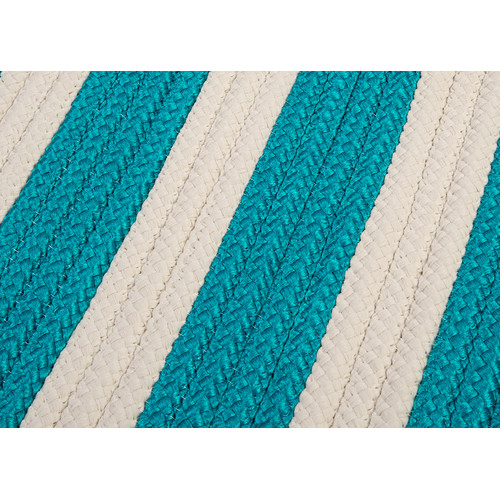 Colonial Mills Stripe It Turquoise Sample Swatch