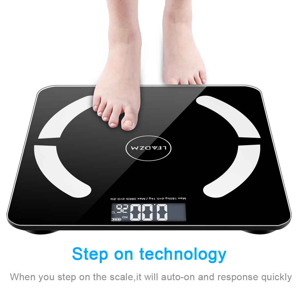 Zimtown Bluetooth Scales Digital Weight and Body Fat Scale - Body Composition Analyzer with Cell Phone APP- Wireless Digital Bathroom Smart BMI Scale,397 lbs