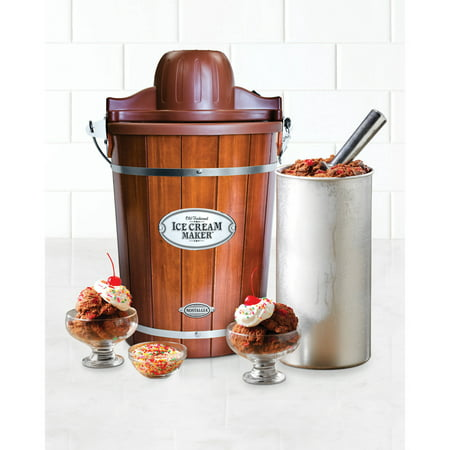 Nostalgia ICMP600WD 6-Quart Wood Bucket Ice Cream (Best Grocery Store Ice Cream)