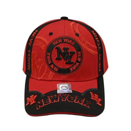 S400 New York Emblem Baseball Cap (Red black) - Walmart.com 19482399a06