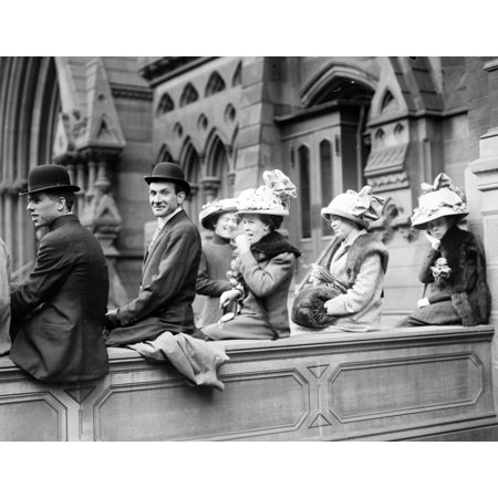 NYC Watching Easter Parade 20th Century Rolled Canvas Art - Science Source (36 x 24) (Halloween Parade Map Nyc)