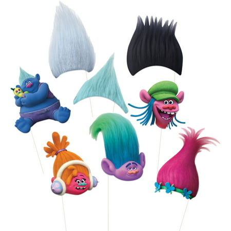 Trolls Photo Booth Props, 8pc (Christmas Props For Photo Booth)