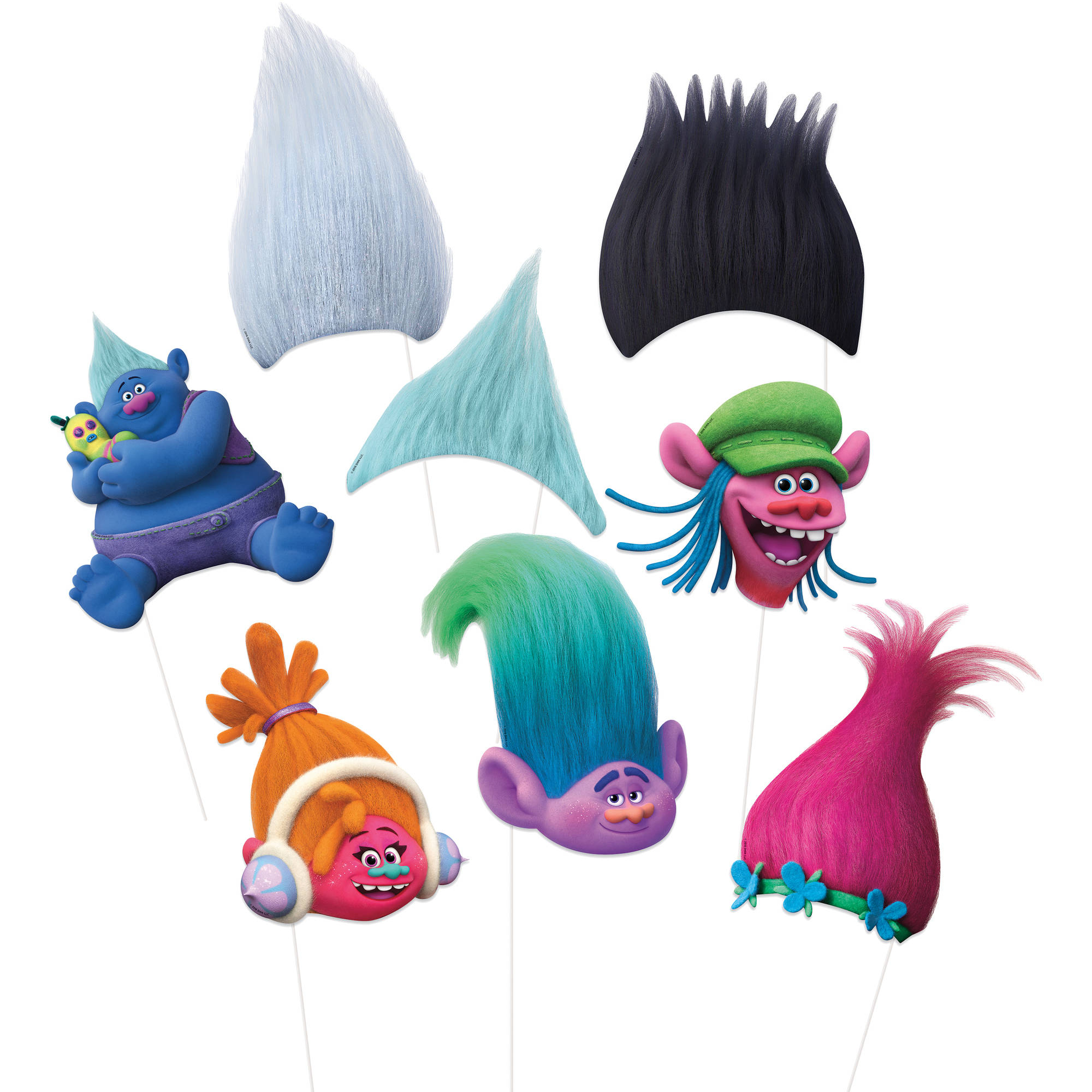 Trolls Photo Booth Props, 8-Piece