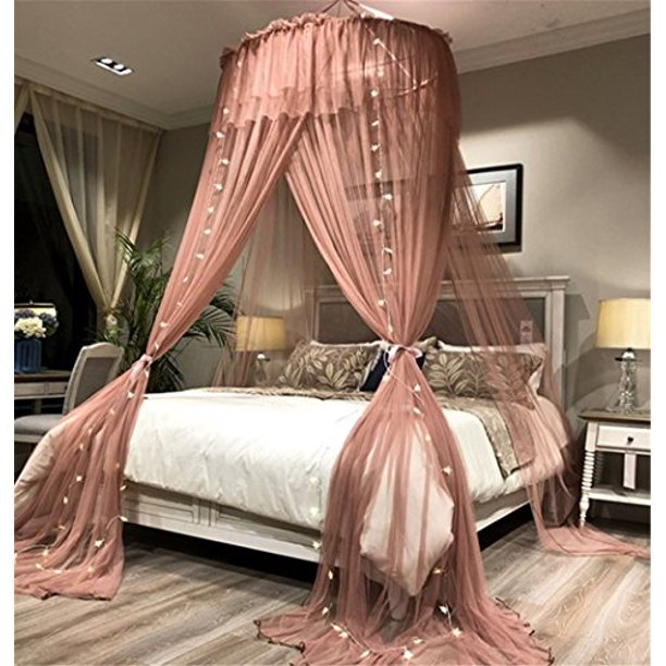 Lotus Karen Bed Canopy Elegant Lace, Queen Size Canopy Bed With Curtains