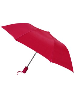 42 Automatic opening umbrella featuring windproof frame, rubber spray handle, waterproof material
