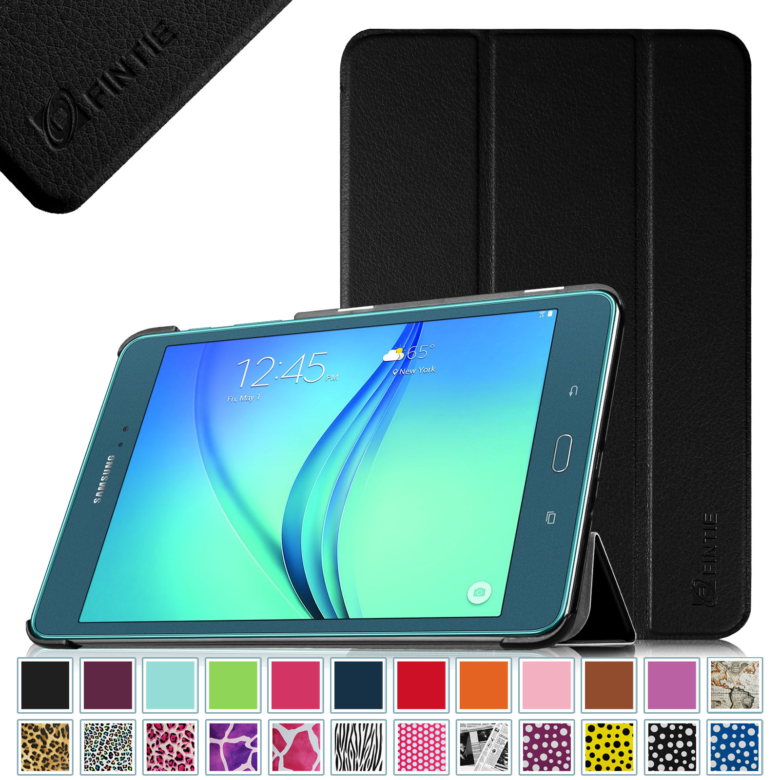 "Samsung Galaxy Tab A 8.0 Case - Fintie Ultra Slim Stand Cover with Auto Sleep/Wake for Tab A 8.0"" Tablet SM-T350, Black"